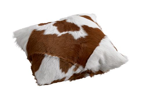 Calfhide Cushion Brown