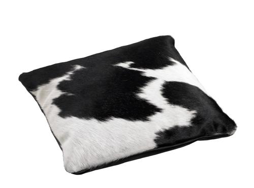 Cowhide Cushion Black