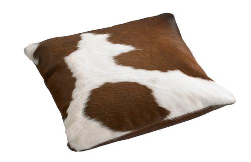 Cowhide Cushion Brown