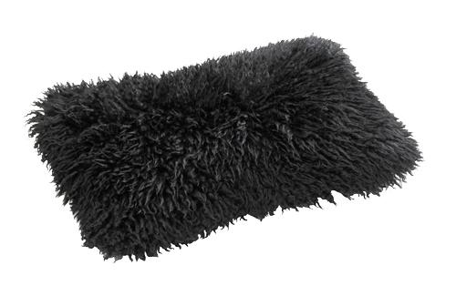 Lammskinn Kudde Black